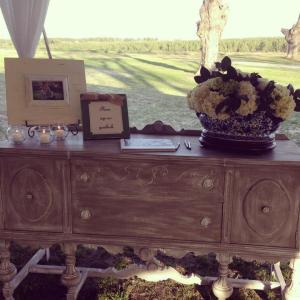 Florals by Emily Wynn Wildes Floral Design and guest book