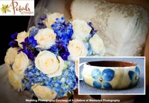 Saving Flowers - petals into bangles