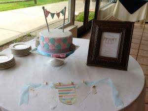 shower - cake,invitation