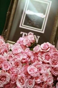 tara and nathan pink roses